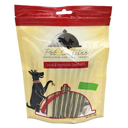 Pet Cuisine Hundeleckerli Hundesnacks Welpen Kausnacks, Ente & Gemüse Sandwich Sticks, 250g