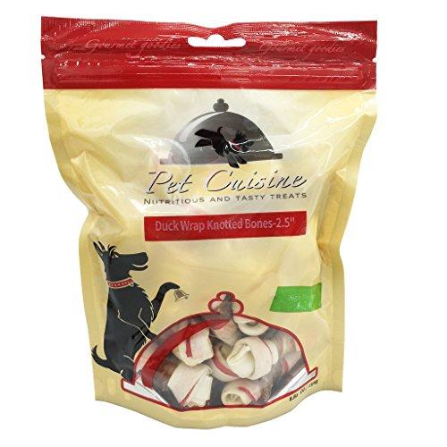 """Pet Cuisine Hundeleckerli Hundesnacks Welpen Kausnacks, Ente & Rinderhaut Kauknoten-2.5"""", 250g"""