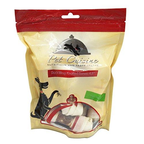 """Pet Cuisine Hundeleckerli Hundesnacks Welpen Kausnacks, Ente & Rinderhaut Kauknoten-4.5"""", 250g"""
