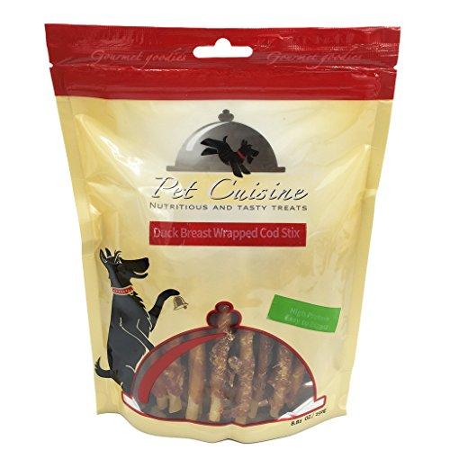 Pet Cuisine Hundeleckerli Hundesnacks Welpen Kausnacks, Entenbrust & Kabeljau Kaustangen, 250g