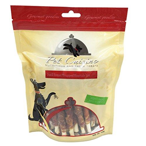Pet Cuisine Hundeleckerli Hundesnacks Welpen Kausnacks, Entenbrust & Rinderhaut Kaurollen, 250g