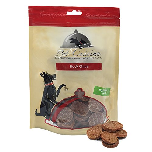 Pet Cuisine Hundeleckerli Hundesnacks Welpen Kausnacks, Entenfleisch Chips, 250g