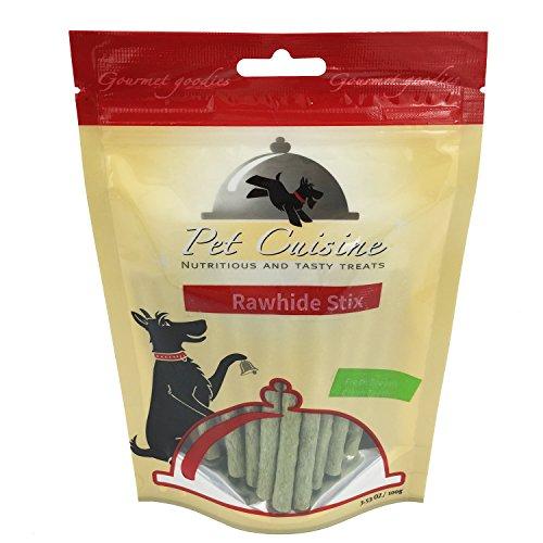 Pet Cuisine Hundeleckerli Hundesnacks Welpen Kausnacks, Grün Faser Rinderhaut Sticks, 100g