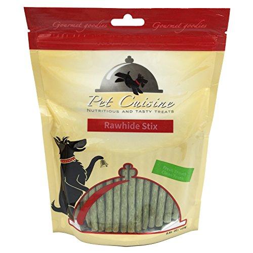 Pet Cuisine Hundeleckerli Hundesnacks Welpen Kausnacks, Grün Faser Rinderhaut Sticks, 250g