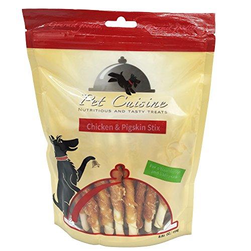 Pet Cuisine Hundeleckerli Hundesnacks Welpen Kausnacks, Hähnchen & Schweinehaut Sticks, 250g