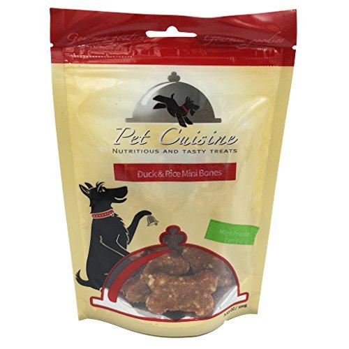 Pet Cuisine Hundeleckerli Hundesnacks Welpen Kausnacks, Knochenförmige Ente & Reis Mini Knochen, 100g