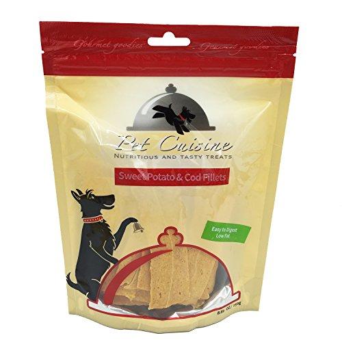 Pet Cuisine Hundeleckerli Hundesnacks Welpen Kausnacks, Süßkartoffel & Kabeljau Filet, 250g