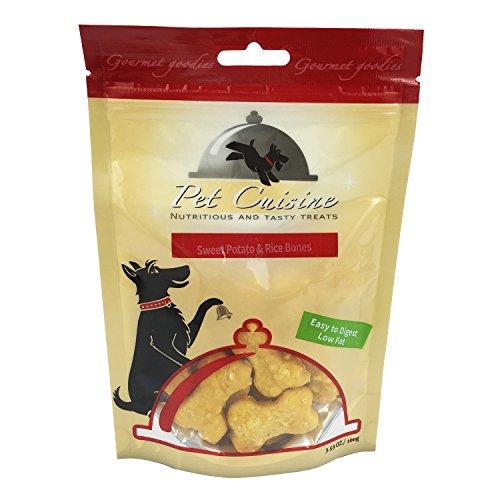 Pet Cuisine Hundeleckerli Hundesnacks Welpen Kausnacks, Süßkartoffel & Reisknochen Hundekekse, 100g