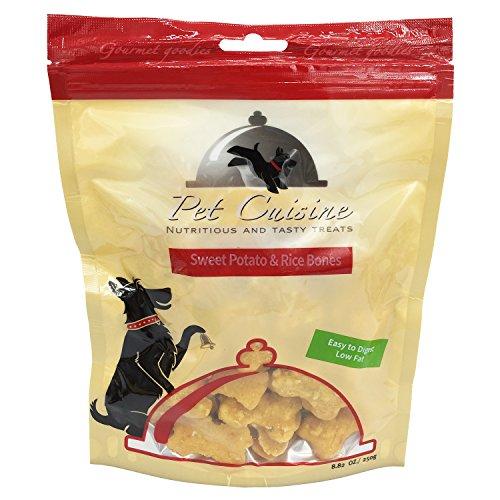 Pet Cuisine Hundeleckerli Hundesnacks Welpen Kausnacks, Süßkartoffel & Reisknochen Hundekekse, 250g