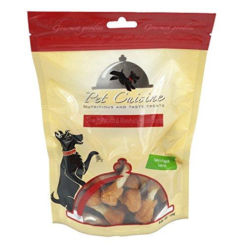 Pet Cuisine Hundeleckerli Hundesnacks Welpen Kausnacks, Süβkartoffel & Rinderaut Hantelförmige Kauknochen, 250g