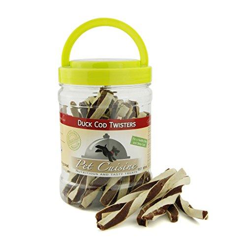 Pet Cuisine Hundeleckerli Snacks Dörrfleisch, Ente Kabeljau Twister, 340g