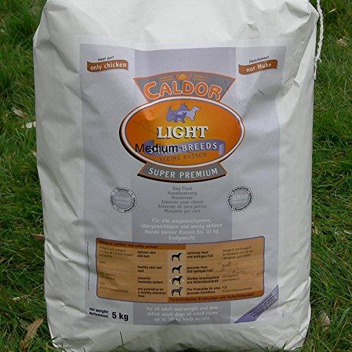 Caldor Light nur Huhn mit Reis + Mais | Medium | 15 kg Sack | Diät Hunde Trockenfutter