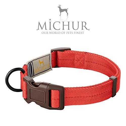 MICHUR Carola Vintage Style HUNDEHALSBAND, Nylon Hundehalsband, in verschiedenen Größen erhältlich