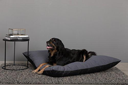 Hundekissen große Hunde Oscar Grau für grosse Hund XL 120 x 100 x 20cm Hundekissen XXL für mittelgrosse bis grosse Hunde. Sehr stark und hundebett waschbar