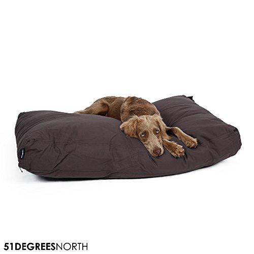 Hundekissen große und kleine Hunden und Katzen, Grau, Dark Grey, Hundebett waschbar Baumwolle, Medium, Extra Large, M, XL