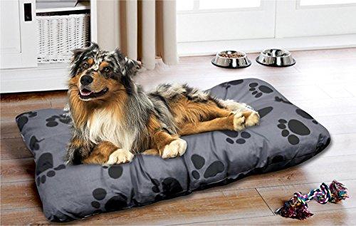 MORE 4 DOGS Premium Hundekissen Hundebett Hundesofa Hundekorb Haustierkissen Haustierliegekissen Hundematratze braun M - L - XL