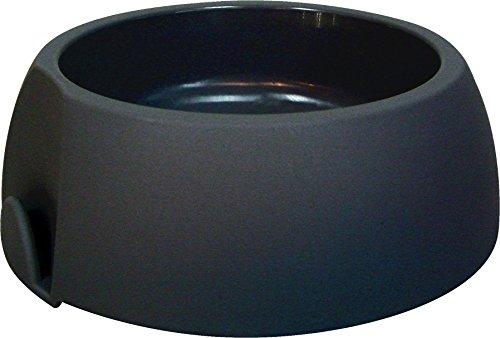 Topzoo Futternapf für Hunde, rutschfeste Unterseite, 1l, Schwarz, 2 Stück
