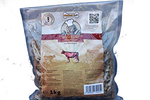 Gesundes Premium Hundefutter mit Hohem Fleischanteil für Mehr Vitalität I Hundekochprofi Wiesenrind kaltgepresstes Trockenfutter für Hunde I Tierbedarf Hundenahrung Alleinfutter Hundebedarf