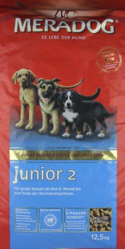 MERADOG CARE Junior 2 Hundefutter I Trockenfutter ohne Weizen für junge Hunde großer Rassen I 12,5 Kg