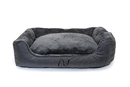 Happilax waschbares Hundebett mit wendbarem Kissen, Hundekörbchen für mittelgroße und kleine Hunde