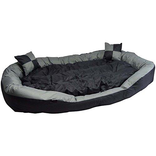 Hossi's Wholesale 2in1 Hundebett XXL - Kuscheliges, waschbares Hundekorb Big Tier Sofa - Größe L 110x80x20cm