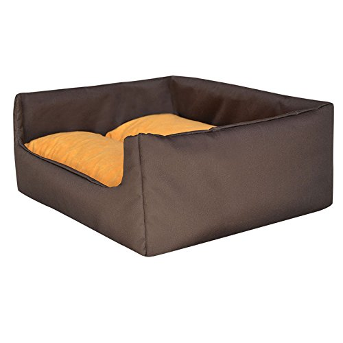 "Hundebett Hundekorb ""Aruba"" 100% Polyester Braun M - 70cmx60 cm W204 04"