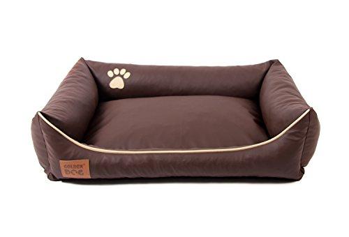 Hundebett Kunst Leder Luxus Hundebett Hundesofa Katzenbett Hundekorb S M L XL XXL XXXL Dollaro (S (ca. 70x55 cm ), braun)