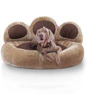 Knuffelwuff 12752 Pfoten Hundebett Luena - Größe S - M, 80 cm, braun