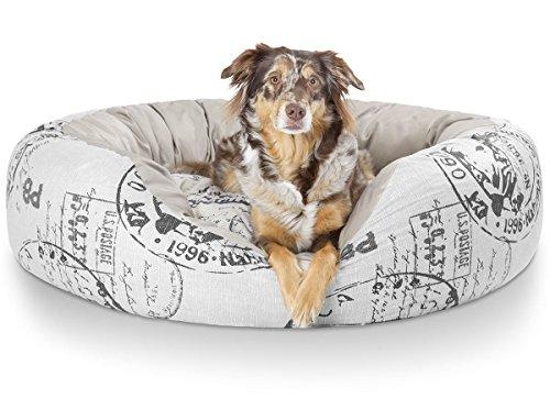 Knuffelwuff 12768 Kuscheliges Hundebett Robinson - Größe L, 80 x 80 cm, Schwarze Elemente