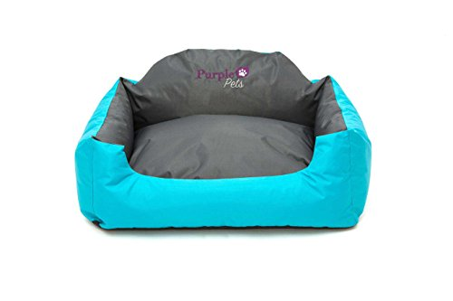 Purple-Pets Dog Beds, Pet Beds, Cat Beds, Washable, Water resistant, Easy clean! (Small, Blue)