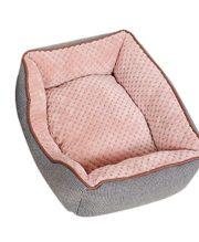 ZKOO Hundebett Katzenbett Hundekorb Warm Pet Bett Kissen für Hunde Katzen Kleintiere (Grau,L)