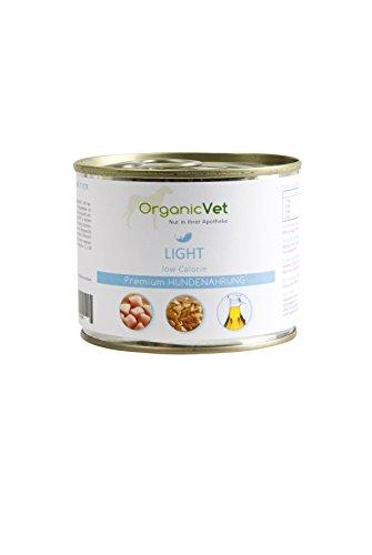 ORGANICVET Hund Nassfutter Veterinary Light, 6er Pack (6 x 200 g)